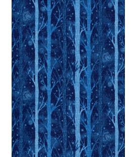 Trees. Blue