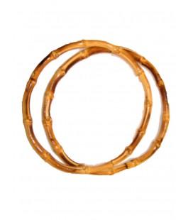 A003 Asas de bolso de bambú 22 cm