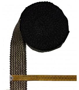 Elástico oro-negro 6 cm