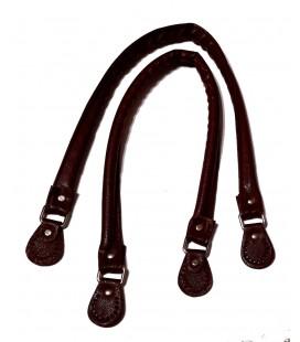 Handles bag brown imitation leather