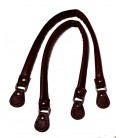 Asas de bolso imi-piel marrón