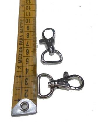 Silver snap hook 1,5 cm