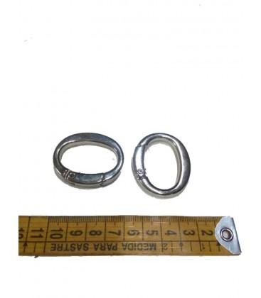 Silver  oval snap hook 4 cm