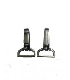 Dark silver snap hook 4 cm