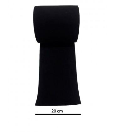 Black elastic 20 cm