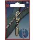 Nickel zipper handle color.