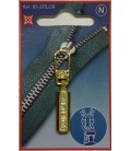 Golden zipper handle color.